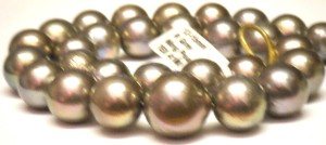 Deep silver grey Ming strand, sizes 11.8mm to 16.8 mm
