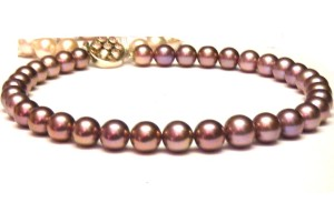 deep pink/purple Ming pearls