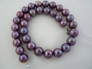 Amethyst purple strand from Jack Lynch of Sea Hunt Pearls